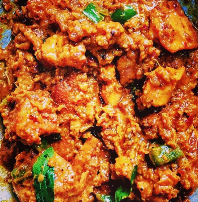 Chicken cooked in Peri peri sauce